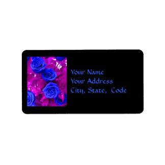 Sapphire Blue Roses 2 Address label