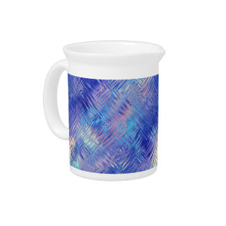 Sapphire Blue Scribbled Texture Drink Pitcher
