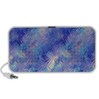 Sapphire Blue Scribbled Texture Laptop Speakers