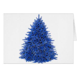 Sapphire blue tree greeting cards