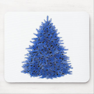 Sapphire blue tree mouse pad