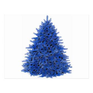 Sapphire blue tree post cards