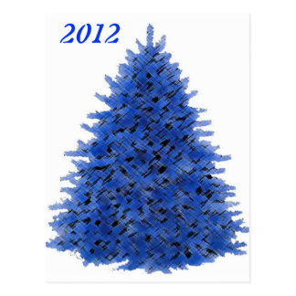 SAPPHIRE BLUE TREE POSTCARD