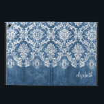 "Sapphire Blue Vintage Damask Pattern and Name Case For iPad Air<br><div class=""desc"">A vintage pattern with a chalkboard and lace design. Look closely to the flowers and leaves.A trendy design with jewel tone colors and elegance. Items are easier to customize when you replace all text and photos first. If your art still needs to be adjusted, click on the Customize This button....</div>"