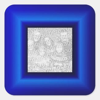 Sapphire Border Square Sticker