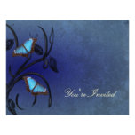 Sapphire Butterfly Pair Invitation