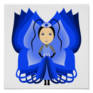 Sapphire Butterfly Princess Poster