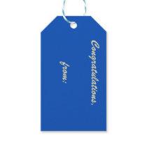 Sapphire Congratulations Gift Tag (gold script)