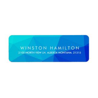 Sapphire Crystal   Personalized Return Address Label