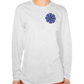 *Sapphire* de la camiseta del monograma de KRU