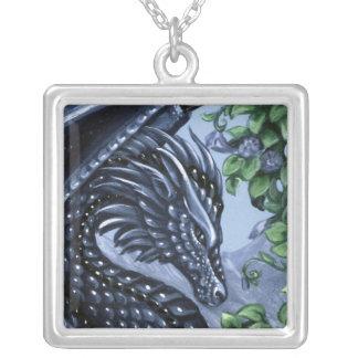 Sapphire Dragon Square Necklace