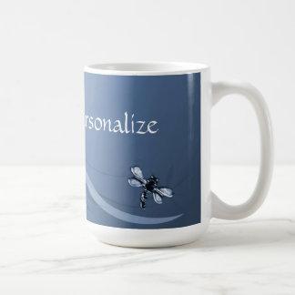 Sapphire Dragonflies Coffee Mug