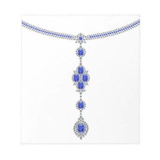 Sapphire Enchantment Necklace Memo Pad
