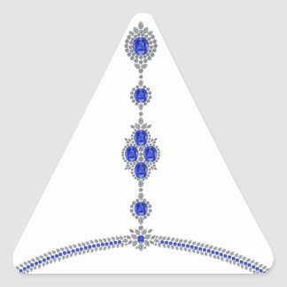 Sapphire Enchantment Necklace Triangle Sticker