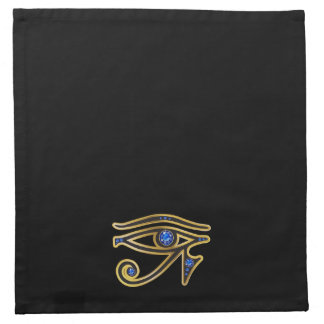 Sapphire Eye of Ra in Gold Napkins