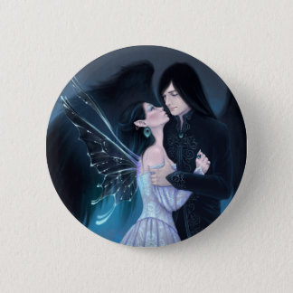 Sapphire Fairy and Angel Romance Button Badge