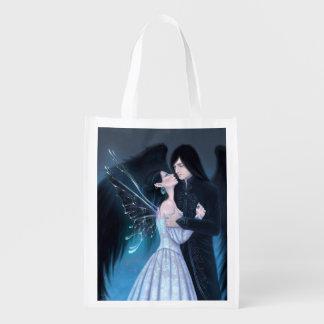 Sapphire Fairy & Angel Art Reusable Grocery Bag
