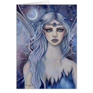 Sapphire Fairy Fantasy Watercolor Art Greeting Card