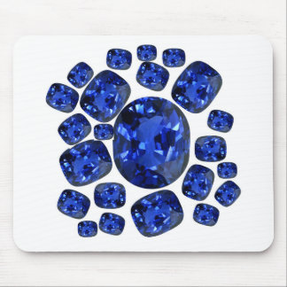 Sapphire Gems Birthstone gifts by sharles Mouse Pads