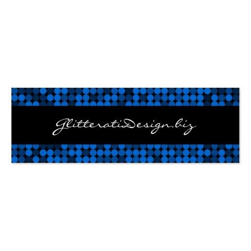 Sapphire Glam Skinny Bizcard Business Card Template