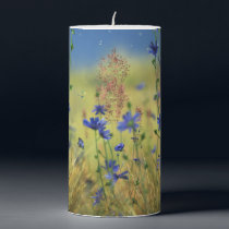 Sapphire & Gold Candle