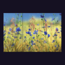 Sapphire & Gold Canvas Print