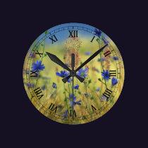 Sapphire & Gold Clock