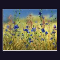 Sapphire & Gold Postcard