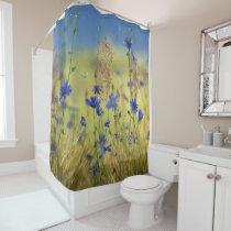 Sapphire & Gold Shower Curtain