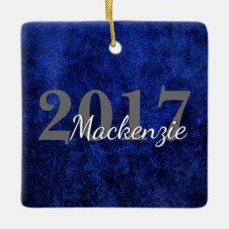 Sapphire Grad | Blue Royal Cobalt Azure Year Ceramic Ornament