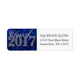 Sapphire Grad | Blue Royal Cobalt Azure Year Label