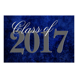 Sapphire Grad | Blue Royal Cobalt Azure Year Poster