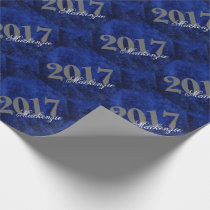 Sapphire Grad | Blue Royal Cobalt Azure Year Wrapping Paper