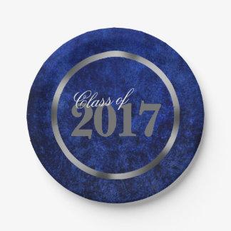 Sapphire Grad Royal Azure Cobalt Blue Party Theme Paper Plate
