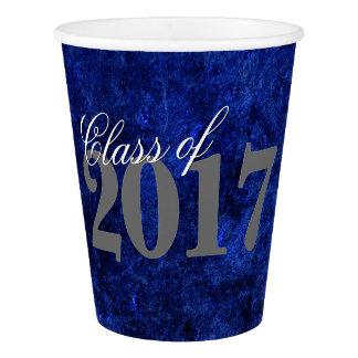 Sapphire Grad Royal Cobalt Azure Blue Party Theme Paper Cup