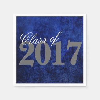 Sapphire Grad Royal Cobalt Azure Blue Party Theme Paper Napkin
