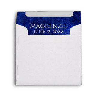 Sapphire Grad | Royal Cobalt Blue | Party Invite Envelope