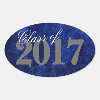 Sapphire Graduate Announcement Blue Grad Party Oval Sticker