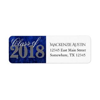 Sapphire Graduation | Blue Class of 2018 Party Label