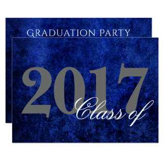 Sapphire Graduation Royal Cobalt Blue Party Theme Card