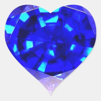 Sapphire Heart Sticker