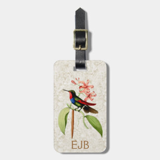Sapphire Hummingbird Luggage Tag