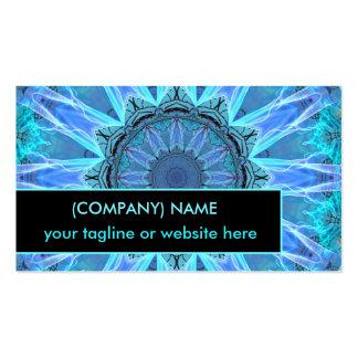 Sapphire Ice Flame, Crystal Wheel Aqua Blue Bright Business Card