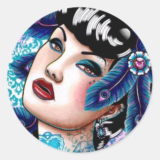 Sapphire Night by Carissa Rose Classic Round Sticker