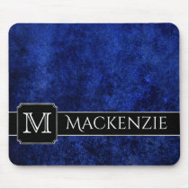 Sapphire Office | Name Azure Royal Cobalt Blue Mouse Pad