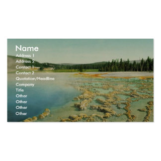 Sapphire Pool, Yellowstone National Park classic P Business Card Templates
