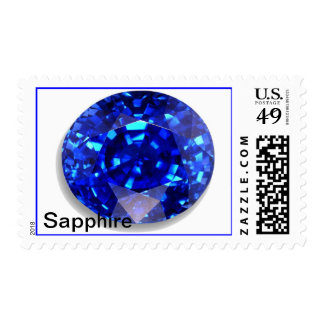 Sapphire postage stamp
