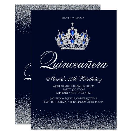 Sapphire Quinceanera Invitations