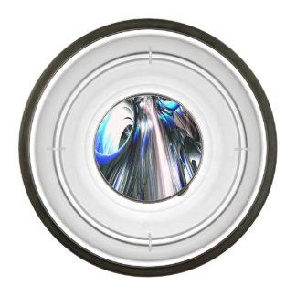 Sapphire Rain Abstract Pet Bowl