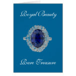 Sapphire Ring Royal Beauty Card